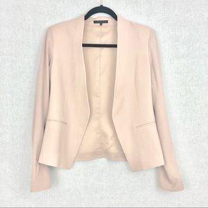 Theory Blush Pink Open Front Blazer 6